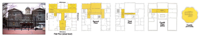 Pioneer Courthouse floor plans
