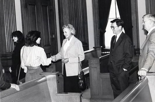 Justice Sandra Day O'Connor visited Pioneer Courthouse in 1988. The Timeline of the United States Court of Appeals Ninth Circuit covers its history since the 1700s.